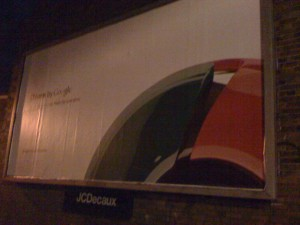 Google Chrom Billboard England