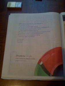 Google Chrome Paper Advert England