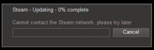 Steam Error Message
