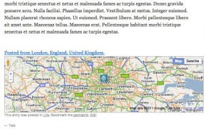 Wordpress Geolocation Map After