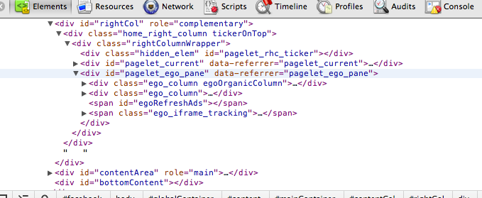 Facebook's Suggest a Friend HTML markup