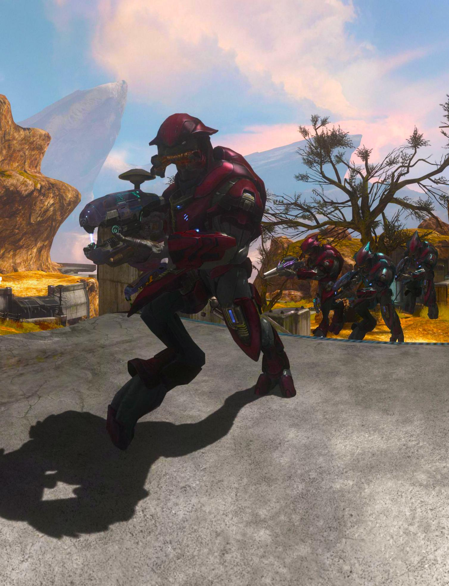 Elites attack on Halo Reach Beta, slight color modification.